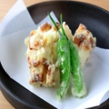 料理メニュー写真チーズ竹輪の天ぷら★京風抹茶塩で♪