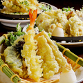 料理メニュー写真天ぷら 季節の食材をご用意