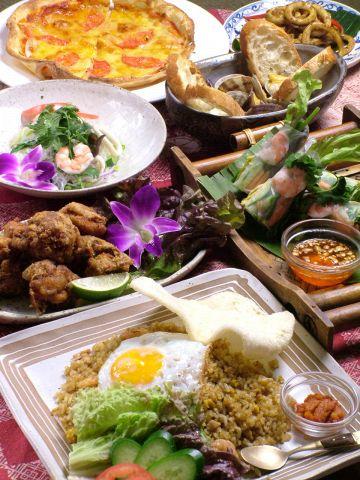 タイ、インドネシア料理が堪能できるコースは値段もオトク!