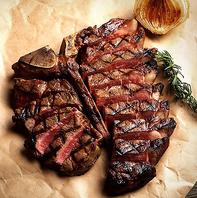 アメリカンスタイルのステーキを豪快に食す♪ご宴会に◎