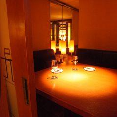 人気No.1の隠れ家風個室。 特にフルコースで楽しむ記念日ディナーにはピッタリ!