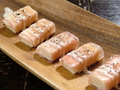 料理メニュー写真クリームチーズの生ハム巻き