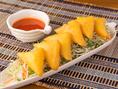 ◆トーフ・ジョー【当店人気No.1】カリッふわっ食感がたまらない♪ひよこ豆で作ったシャン豆腐をカリっと揚げた料理。一口食べれば、とろっと豆腐が濃厚で美味しいです♪