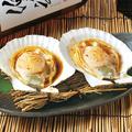 料理メニュー写真ホタテのバター醤油焼き(1枚)