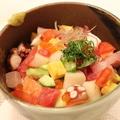 料理メニュー写真海鮮チラシ