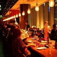名古屋の夜景も楽しめる◎雰囲気あるロングカウンター★