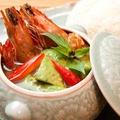 料理メニュー写真海老とアボカドのグリーンカレー「ゲーン・キョウ・ワーン・クンアボカド」