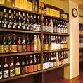 銘柄酒や厳選した日本酒や焼酎などを取り揃え、ズラッと店内に置いてます!どれにしようか迷ってしまいそうに…!