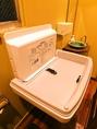 お手洗いにはオムツ交換台を設置しています!