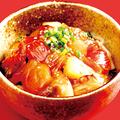料理メニュー写真大分県産漁師飯あつめし~ゴマ醤油で魚を和えた丼ぶり~