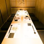 完全個室でご宴会はいかがでしょうか!当店は、広々とした和空間の店内になっております。掘りごたつ席になっておりますので、足を伸ばせてゆったりとお過ごしいただけます。当店はこだわりの食材を使用したお料理や、厳選された日本酒など、種類豊富にご用意致しております。是非、ご賞味ください。