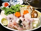 季節限定のお料理1例(冬):とらふぐ鍋