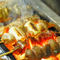 【絶品の焼き鳥】串焼き盛り合わせ(5本)♪一本一本、丁寧に仕込んでいます♪お塩、タレはこだわりの自家製!ぜひご賞味ください!