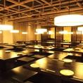 こちらのお席は最大72名様まで対応可能となっており、会社の大人数での飲み会から仲間との宴会など各種ご宴会に多くご利用頂いております♪さらに週末は、昼宴会も事前のご予約で可能となっております!幹事様特典もお見逃しなく♪