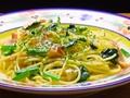 料理メニュー写真ほうれん草とベーコンのスパゲティー