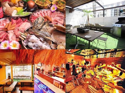 オシャレな空間でBBQを愉しめる!牡蠣・海鮮食べ放題コースもご用意◎