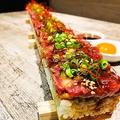 料理メニュー写真驚愕の50cm!!桜肉のコリアンユッケ寿司