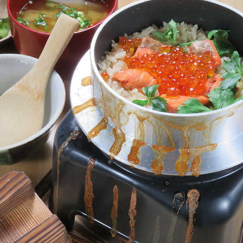 丁寧に炊き上げた釜飯と新鮮な魚介や季節のお料理が楽しめる☆