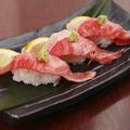 料理メニュー写真宮嵜牛炙り握り寿司