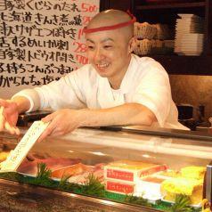 旬のお魚はきいてください!彼は現在 川崎店の店長として 大大大活躍中!