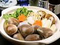 季節限定のお料理1例(冬):はまぐり鍋
