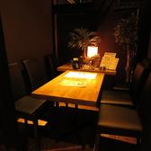 【1階個室】カーテンで仕切る少人数様向けのテーブル席です