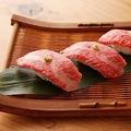 料理メニュー写真炙り寿司(3貫)