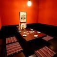 【半個室】5名様までご利用可能な個室です。ゆったりとした空間で当店自慢の博多グルメをお楽しみいただけます♪