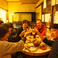 アットホームで居心地抜群/飲み放題コース4500円~!