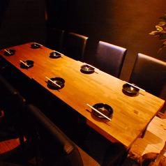 【1階個室】カーテンで仕切る少人数様向けのテーブル席です。女子会や合コン、プライベートな宴会にピッタリ!