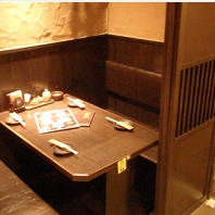 多種多様なお席をご用意♪デートに最適な個室も有◎