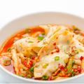 料理メニュー写真辛スープ餃子