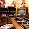 【ハイカラ横丁雰囲気4】昭和のお部屋を見てお楽しみいただけます!!外からでも見ることができます。