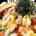 料理メニュー写真さくら特選 山かけ海鮮サラダ