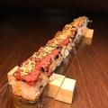 料理メニュー写真超ロングユッケ寿司 50cm