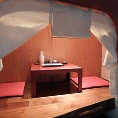 1階:2名様の個室お座敷席です。※仕切りを外して2名様以上の個室仕様にもご対応いたします。