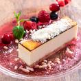 ♪♪デザートのご紹介♪♪濃厚!北海道チーズケーキ バスク風~大人のデザート~