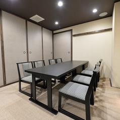 離れのお座敷個室は人数にあわせてお席をご用意可能です