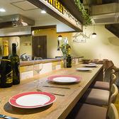 オープンキッチンは開放感たっぷりで目でも楽しめる☆デートやサク飲みなどにおすすめ♪