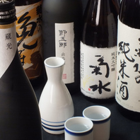 """新潟といえば""""日本酒""""!地酒や限定酒など各種ご用意!"""