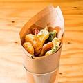 料理メニュー写真野菜とエビのフリット