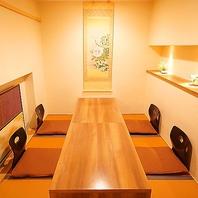 【個室完備】個室席は2名~ご利用可能。