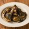 牡蠣とあわび茸のガーリックバターソース