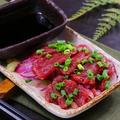 料理メニュー写真国産馬刺し(赤身)