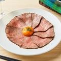 料理メニュー写真A5黒毛和牛の究極のローストビーフ