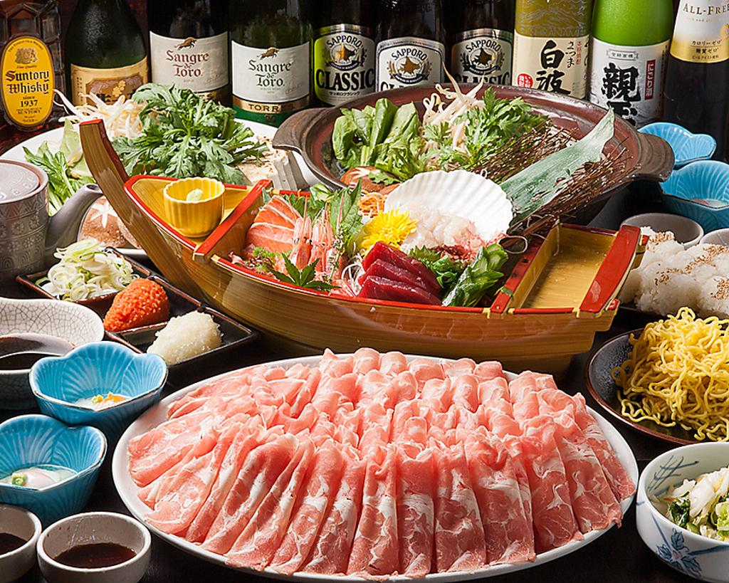 ラム肉の食べ放題&お刺身付きのコースもご用意しております