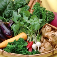 安心・安全の国産野菜使用