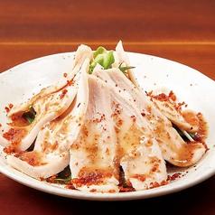 料理メニュー写真蒸し鶏のピリッとゴマポン酢