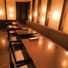 テーブル 片側ソファ席 4名席