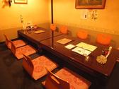 8名様での宴会にぴったりの個室空間